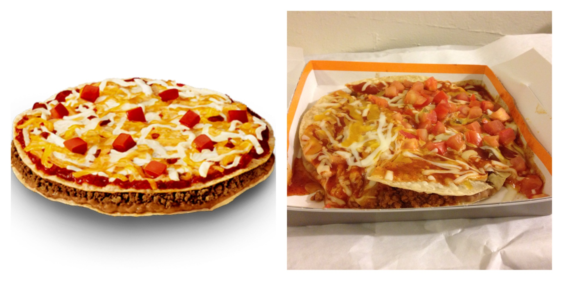 The Mexican Pizza from Taco Bell |