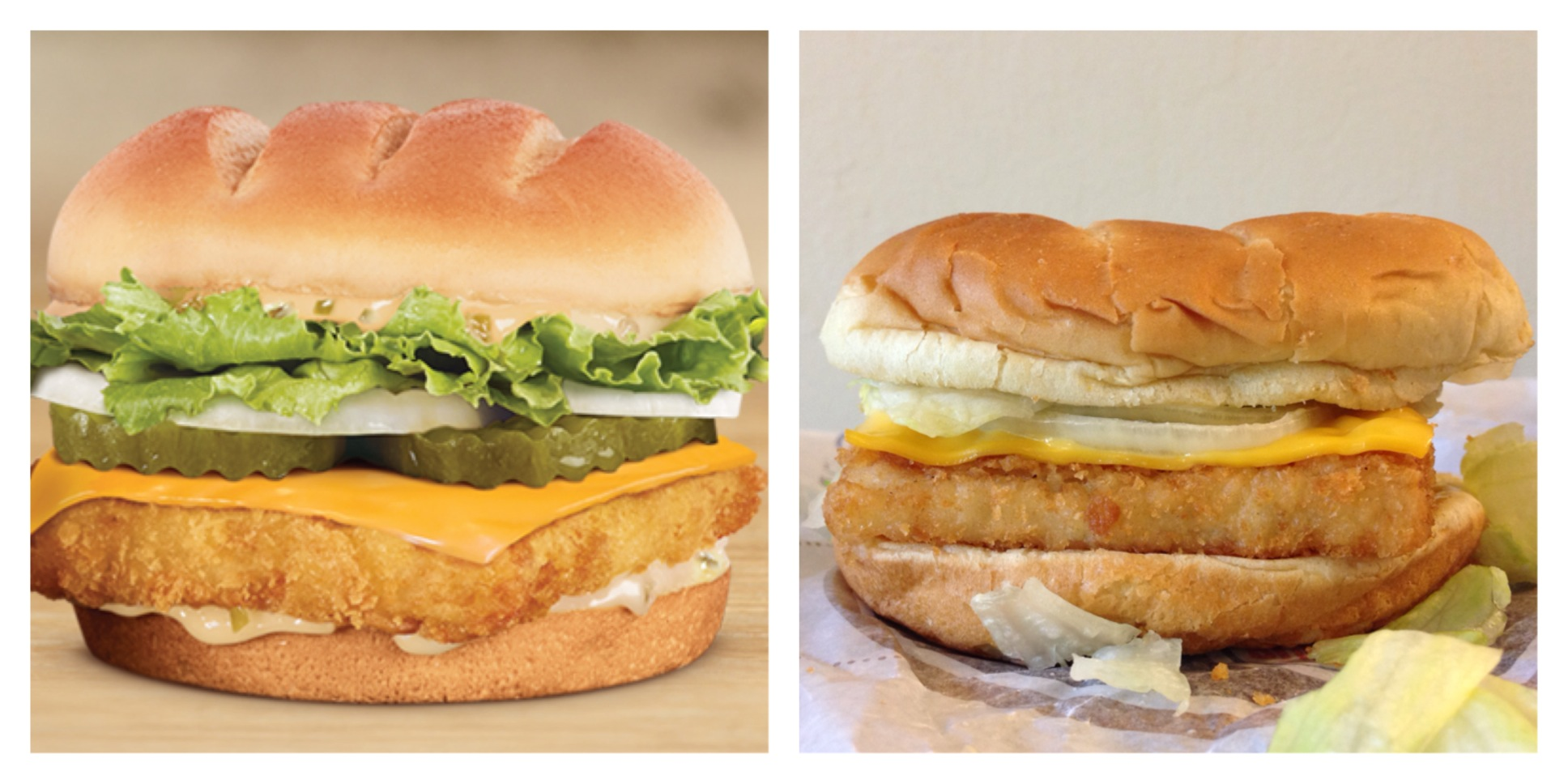 Big fish sandwich for Burger king big fish