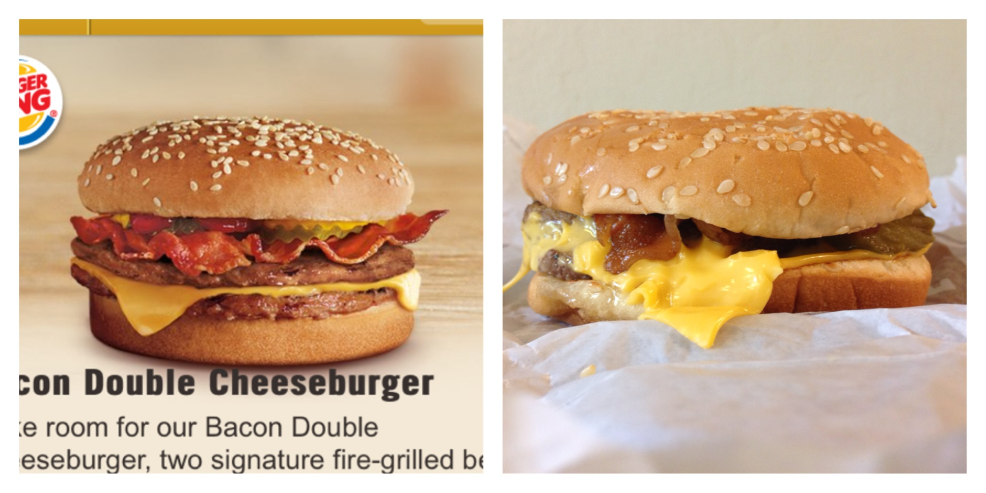 The Bacon Double Cheeseburger From Burger King
